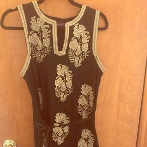 Dress/tunic black with gold pattern Sale price